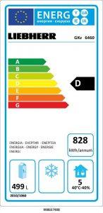 Beispiel für ein Energielabel