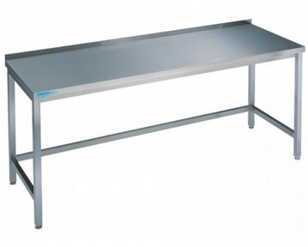 chromonorm arbeitstisch 700 mm tief mit aufkantung gastro. Black Bedroom Furniture Sets. Home Design Ideas