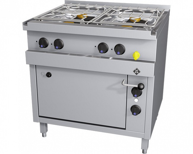 MKN Gasherd 4 Flammig mit E-Backofen Optima 700