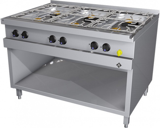MKN Gasherd 6 Flammig Optima 850