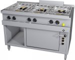 MKN Gasherd 6 Flammig mit G-Backofen Optima 700